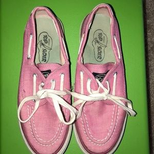 Like new pink Sperry boat shoe